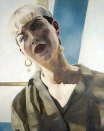 Portrait, Licht, Modell, Malerei