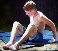 Licht, Kind, Junge, Malerei