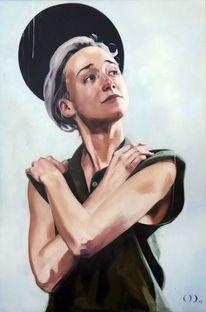Portrait, Madonna, Heilig, Malerei