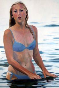 Wasser, Mädchen, Malerei,