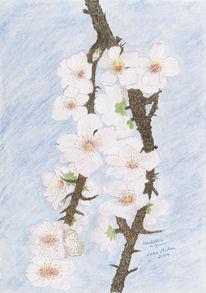 Mandelblütenzweige, Mandelblüte, Malerei