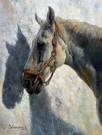 Malerei, Portrait, Pferdeportrait