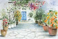 Busch, Malerei, Griechenland, Aquarellmalerei