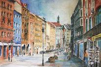 München, Sendlinger, Mischtechnik, Aquarellmalerei