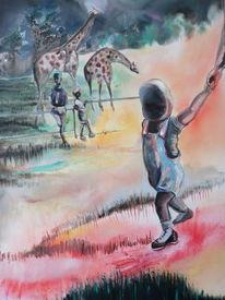 Giraffe, Baby, Kinder, Malerei