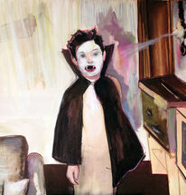 Portrait, Vampir, Malerei, Kind