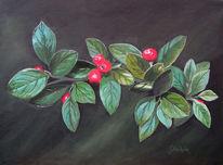 Beere, Blätter, Laub, Malerei