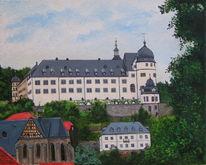Stolberg, Schloss, Kirche, Sommer
