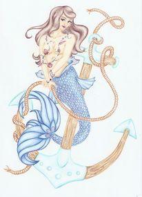 Aquarellstifte, Wasser, Aquarellmalerei, Meer
