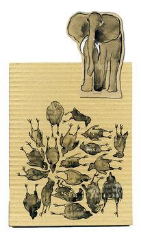 Elefant, Hypnose, Hafer, Bauer