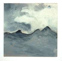 Wolken, Berge, Spitze, Malerei