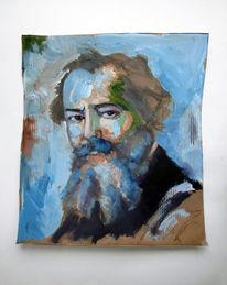 Blau, Wilhelm busch, Malerei, Busch