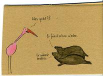 Robbe, Vogel, Zeichnungen,