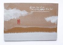Stempel, Landschaft, Text, Schnee
