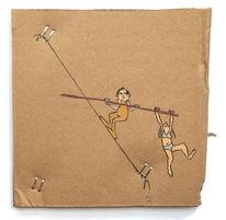 Paar, Gleichgewicht, Arbeiten, Zeichnungen