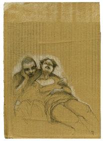 Schlaf, Sitzen, Zug, Zeichnungen