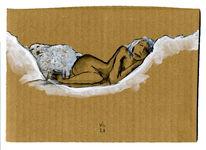 Schlaf, Schaf, Frau, Zeichnungen