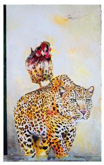 Sieg, Hahn, Leopard, Malerei