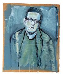 Brille, Zigarette, Mann, Malerei