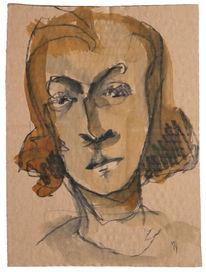 Frau, Gesicht, Skizze, Zeichnungen