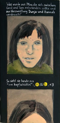 Frau, Emoticon, Fotografie, Text