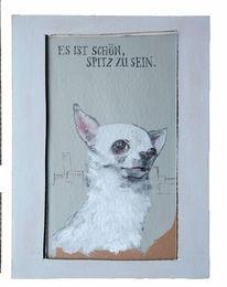 Hund, Schön, Großstadt, Zeichnungen