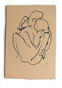 Frau, Aktion, Mann, Zeichnungen