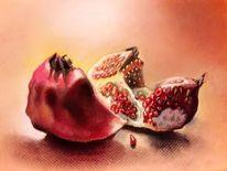 Granatapfel, Obst, Stillleben, Malerei