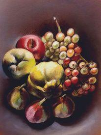 Obst, Herbst, Quitten, Trauben