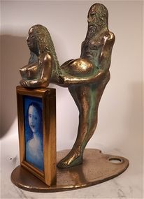 Mona lisa, Bronze, Plastik, Pause