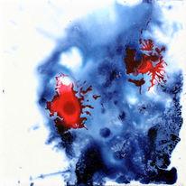 Acrylmalerei, Tinte, Abstrakt, Spontan