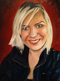 Frau, Portrait, Malerei,