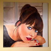 Frau, Nadine, Ölmalerei, Portrait