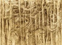 Andeutung, Bleistiftzeichnung, Zeichnungen, Surreal