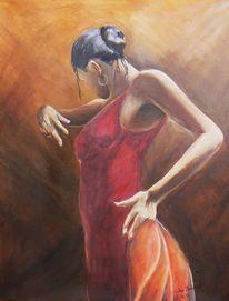 Bewegung, Acrylmalerei, Flamenco, Südspanien