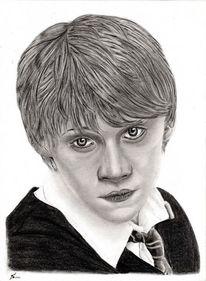 Portrait, Bleistiftzeichnung, Harry potter, Kohlezeichnung