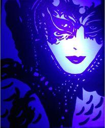 Maske, Leuchtbilder, Schwarzlichtbilder, Schwarzlicht