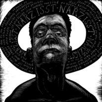 Symbolismus, Zeichnung, Schwarz weiß, Schwarzweiß