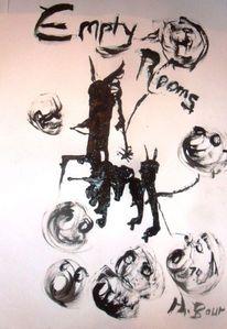 Schwein, Tusche zeichnung, Schwarz, Zeichnungen