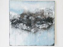 Marmormehl, Abstrakt, Wolken, Schnee