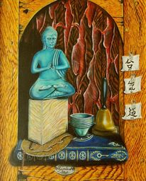 Malerei, Ölmalerei, Stillleben, Buda