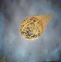 Zukunft, Komet, Acrylmalerei, Malerei