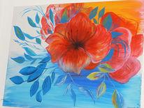 Blumen, Bunt, Mohnblumen, Malerei