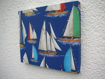 Segelboot, Holzbildhauerei, Dekoration, Kunsthandwerk