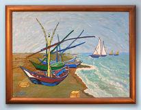 Fischerboot, Malerei, Gogh, Strand