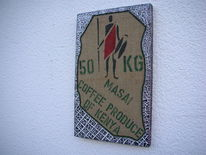 Kn17, Kaffeesack, Massai, Mischtechnik