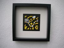 Schwarz, Gelb, Malerei, Abstrakt