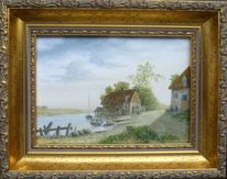 Schiff, Feinmalerei, Gegenständlich, Alte meister