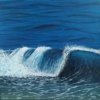 Meer, Welle, Blau, Malerei