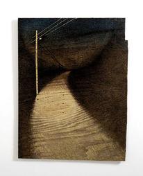 Malerei, Objekt, Finden, Holz